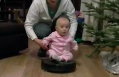 Parents Give Baby a Ride on Spinning Vacuum (VIDEO)