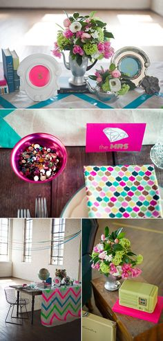 Chevron tablecloth (DIY with ducktape and a blanket)