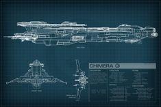 EVE Online Chimera Schematic by Titch-IX.deviantart.com on @DeviantArt