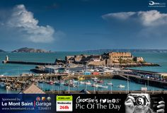 Been a glorious day here. View from the premises I've been working in all day at the top of Cornet Street. #LoveGuernsey   http://chrisgeorgephotography.dphoto.com/#/album/cbc2cr/photo/21801467  Picture Ref: 26_02_14 — at St. Peter Port, Guernsey.