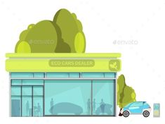 Electro Car Flat Illustration Vector Template - #Electro #Car #Flat #Illustration #Technology #Vector #Template #Conceptual #Design. Download here: https://graphicriver.net/item/electro-car-flat-illustration/19520796?ref=yinkira