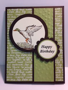 The Wilderness Awaits, Masculine Birthday Card, Stampin' Up!, Rubber Stamping, Handmade Cards