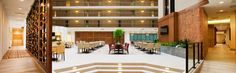 Panoramic of our updated Atrium where we have our complimentary Breakfast and Evening Reception