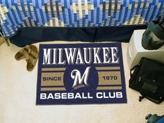 "Milwaukee Brewers Baseball Club Starter Rug 19""x30"""