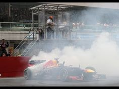 Sebastian Vettel donuts - 2013 Championship Celebration - Indian GP