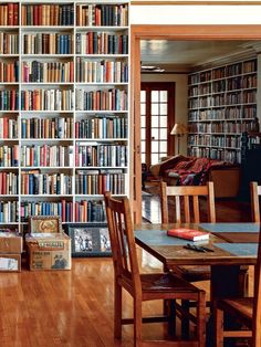 Home Library Design, Dream Library, Interior Design Living Room, House Design, Home Library Rooms, Small Home Libraries, Cozy Home Library, Library Wall, Library Study Room