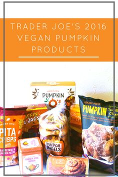 Trader Joe's 2016 Vegan Pumpkin Products - Vegan and love pumpkin? Check out my review of every single vegan pumpkin product at Trader Joe's so far! (Includes Pumpkin Joe Joe's, vegan Pumpkin rolls, and more!)