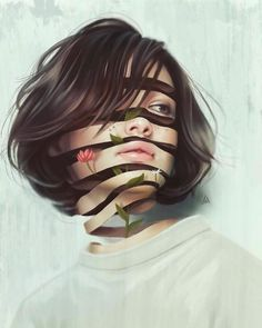 Digital Art: Aykut Aydogdu is a freelance illustrator and artist from Istanbul, Turkey. When you look at ths artist's work, you feel it's handpainted, well you will be surprised to hear that it's Digital Art, Photo Art, Surreal Art, Surreal Artwork, Inspirational Illustration, Collage Art, Portrait, Portrait Art, Aesthetic Art