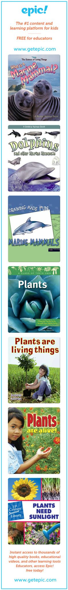 yr 1 biology books - Titles in this collection: What is a Marine Mammal?, Dolphins and other Marine Mammals, Drawing Made Fun: Marine Mammals, Plants: Flowering Plants...