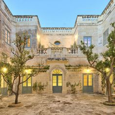 Habitually Chic® » Palazzo Nasciaro Classical Architecture, Architecture Details, Outdoor Areas, Outdoor Structures, Malta Island, Underfloor Heating, Green Garden, Solar Power, Palazzo
