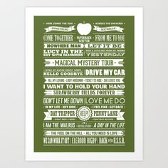 THE BEST OF THE BEATLES Art Print by Needs & Wishes - $18.00