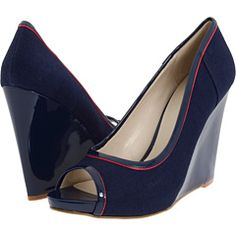 If I wore more navy, I would have these. The little red stripe is fun.