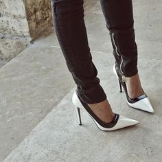 Chic monochrome shoes
