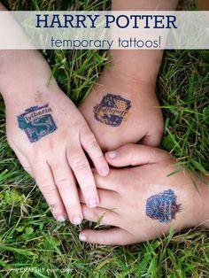 Printable Harry Potter temporary tattoos