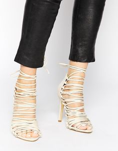 Pieces #wrapped #sandals #laceup #shoelust