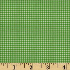 Michael Miller Mini Mikes Tiny Gingham Kiwi from @fabricdotcom Designed for Michael Miller Fabrics, this cotton print features a tiny gingham check in green and white. Use for quilting and craft projects as well as apparel and home décor accents.