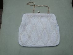 Beaded Cocktail Bag with Gold Chain by heydarlin on Etsy, $20.00