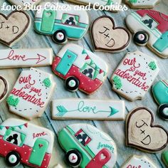 Kissing Camper Anniversary Cookies