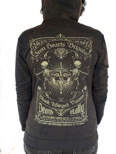"Women's ""Iron Hearts Brigade"" Hoodie by Serpentine Clothing (Black)"