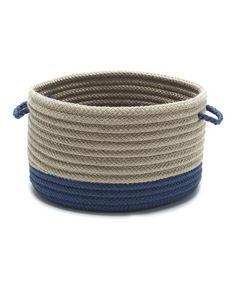 Another great find on #zulily! Blue Marina Utility Basket #zulilyfinds