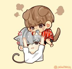 AU: When Tae and Yoongi fight, it is usually because the kitty offended the puppy and/or rejected his affections TvT""
