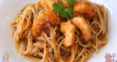 CON VIDEO. COCINA FÁCIL Y SANA. Receta saludable de Pasta con langostinos baja en calorías, apta para diabéticos y baja en colesterol.