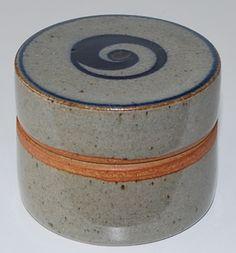 Jacob Bang, lidded jar in stoneware, own studio Denmark.