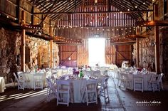 rustic country barn wedding table decor ideas / http://www.himisspuff.com/rustic-indoor-barn-wedding-reception-ideas/10/
