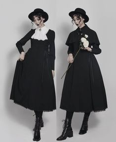 Your Gift -The Raven- Gothic Lolita Jacket (OP Dress) and Cape,Lolita Dresses, Style Lolita, Gothic Lolita Dress, Gothic Lolita Fashion, Gothic Outfits, Victorian Fashion, Vintage Fashion, Diy Outfits, Mode Outfits, Fashion Outfits