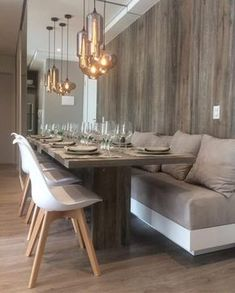 5 Simple Ideas to Improve Your Dining Room Design – Voyage Afield Dining Room Bench, Dining Nook, Dining Room Lighting, Dining Room Design, Interior Design Living Room, Ceiling Lighting, Living Room Modern, Home Living Room, Small Living