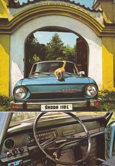 Skoda 110 L (approx. Car Advertising, Old Pictures, Old Cars, Cars Motorcycles, Classic Cars, How To Memorize Things, Europe, Draw, Vehicles