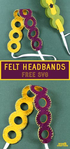 Make a gorgeous but surprisingly easy embroidered accessory with this felt headband tutorial! Get a free SVG template for cutting machines! Learn Embroidery, Embroidery For Beginners, Felt Diy, Felt Crafts, Thick Headbands, Felt Headband, Headband Tutorial, Diy Fashion Accessories, Love Craft