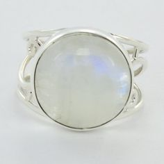 Rainbow Moonstone Gemstone 925 Sterling Silver by DevmuktiJewels