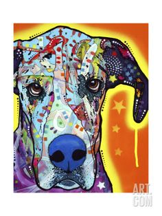 Great Dane Giclee Print by Dean Russo at Art.com