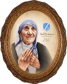 St Teresa of Calcutta Commemorative Portrait Canvas Picture