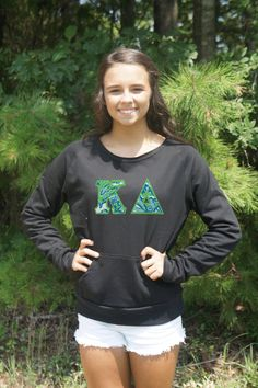CUSTOM Flashback Crewneck with Stitched Greek Letters by GoneGreek on Etsy