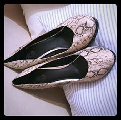 Snakeskin Print Pumps from Torrid, Size 13 Add these chic heels to your wardrobe today. Worn once, excellent condition. The Torrid brand truly carries itself! torrid Shoes Heels