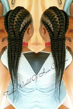 Braid cornrow stitch braiding @teshesworldofhaircreations
