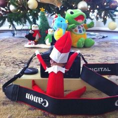 Have you heard of the Elf On The Shelf Christmas tradition? If you're not already frantically trying to hide your Elf in a million different places every day, you soon will be. Noel Christmas, Christmas Elf, Winter Christmas, Christmas Crafts, Funny Christmas, Office Christmas, Awesome Elf On The Shelf Ideas, Elf Ideas Easy, Timmy Time