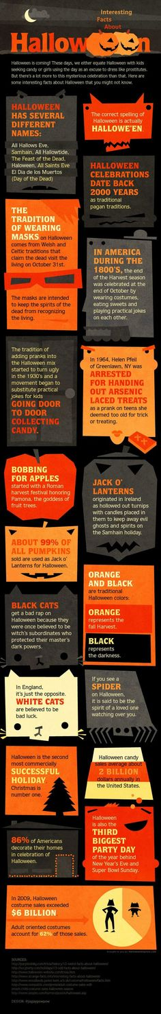 Interesting Facts about Halloween - Click image to find more Geek Pinterest pins