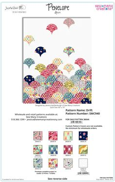 """Order instructions to make this unique quilt featuring JuneBee's Penelope fabric collection. Order direct from Sew Many Creations at www.sewmanycreations.com A painter's palette of flowers and brushstrokes combine with fun paisleys and friendly frogs. So many bold options and potential for mixing and matching these prints for a truly unique project of prints that pop! Finished quilt measures 60""""x75"""""""