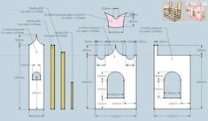 A bed that looks like a castle - blueprints