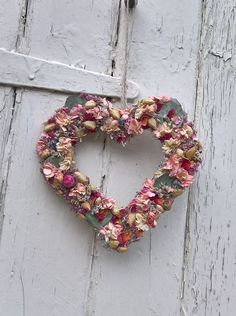 Mothers Day Flower Heart , mothers day gift, hanging heart, wedding decoration, rustic wedding, dried flowers, country wedding, flowers by BellaPoppyFlowerArt on Etsy