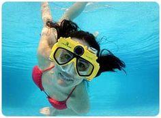 video swim mask