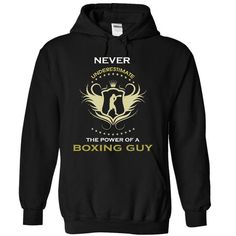 Never underestimate a boxing guy guy LIMITED TIME ONLY. ORDER NOW if you like, Item Not Sold Anywhere Else. Amazing for you or gift for your family members and your friends. Thank you! #boxing #shirts