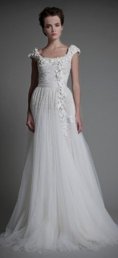 Tony Ward Bridal 2013 Spring - love fabric and fall of the skirt, not wild on the top