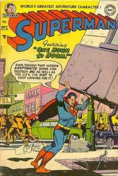 1954-05 - Superman Volume 1 - #89 - One Hour To Doom! #SupermanComics #DCComics #SupermanFan #Superman #ComicBooks
