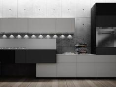 Cocina integral lacada ARTEMATICA PIGMENTUS by VALCUCINE diseño Gabriele Centazzo