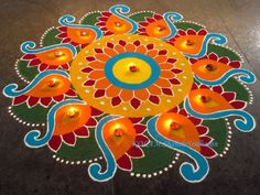 Rangoli for Competition, Rangoli designs Easy Rangoli Designs Videos, Rangoli Designs Latest, Simple Rangoli Designs Images, Latest Rangoli, Colorful Rangoli Designs, Rangoli Designs Diwali, Diwali Rangoli, Beautiful Rangoli Designs, Kolam Designs