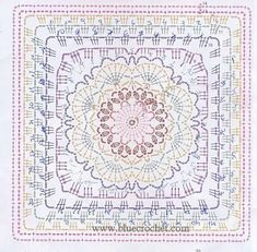 Patterns and motifs: Crocheted motif no. 956 - Marion Rupprecht - Patterns and motifs: Crocheted motif no. 956 Patterns and motifs: Crocheted motif no. Motifs Granny Square, Granny Square Crochet Pattern, Crochet Diagram, Crochet Chart, Crochet Squares, Crochet Granny, Diy Crochet, Granny Squares, Blanket Crochet